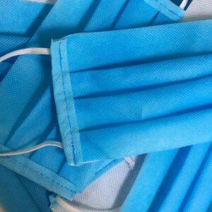 Cubrebocas plisado de tela